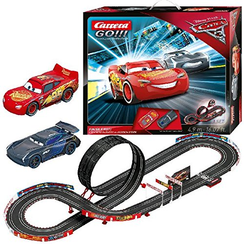 Carrera 62418 GO!!! Disney/Pixar Cars 3-Finish First! slot car race set Lightning Mcqueen Racetrack