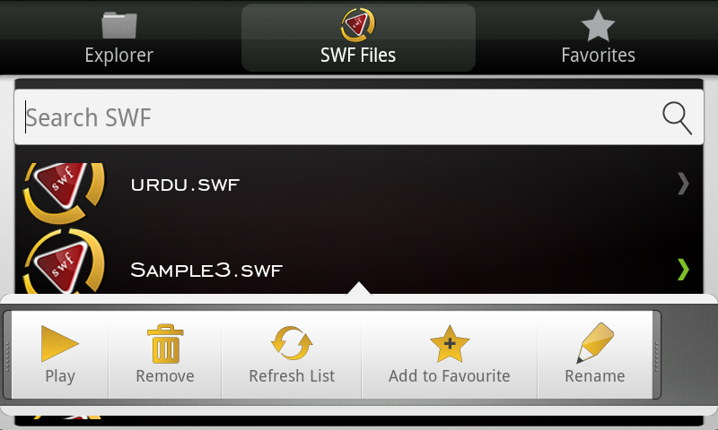 SWF (Flash) Player + File Browser-Full
