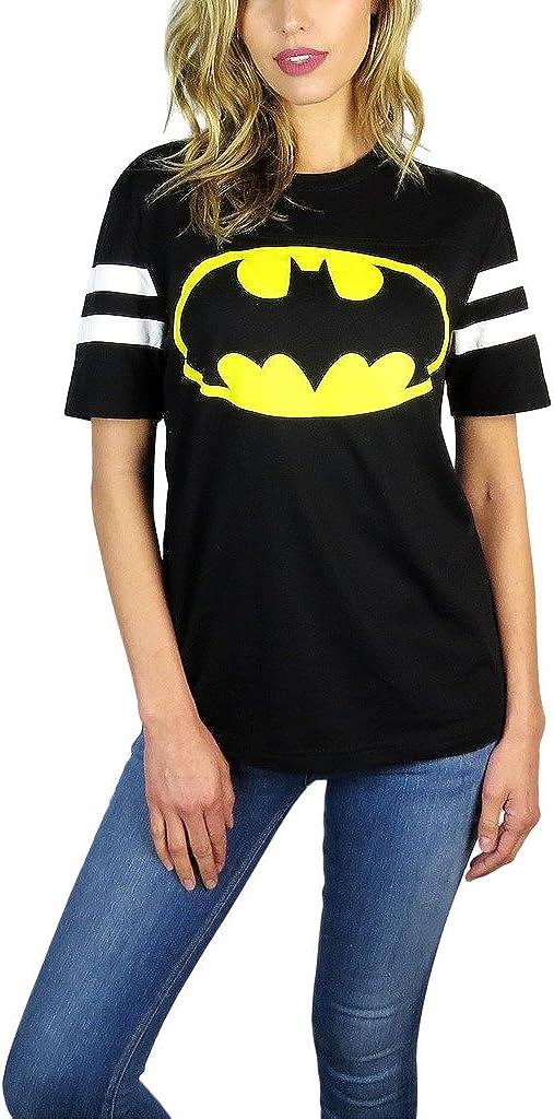 BATMAN DC Comics Womens Varsity Football Tee