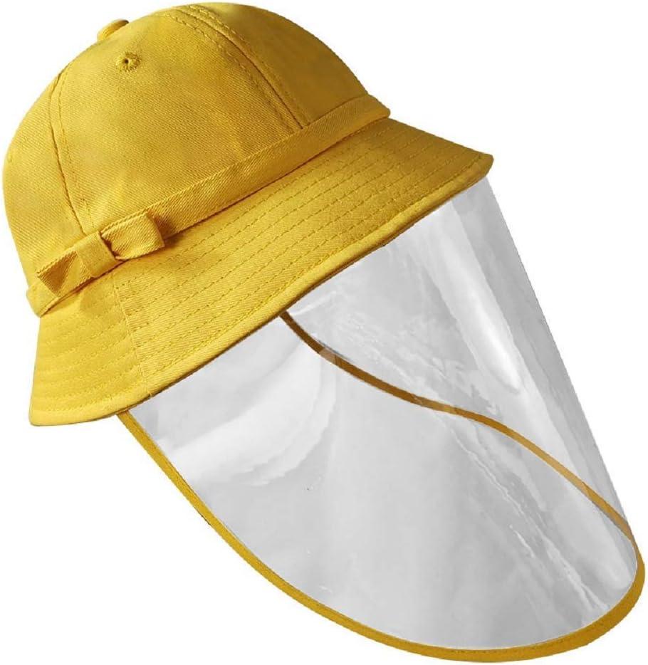 General Sombrero Protector Clear Face Shield Full Head Cover Protección Solar Outdoor Bowknot Bucket Hat para Niños