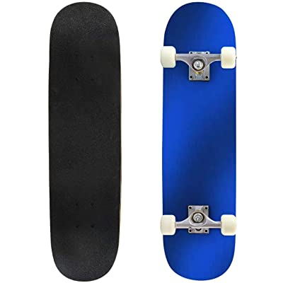 Classic Concave Skateboard Gradient Flat Color Background Blur Color Graphic Design Abstract Longboard Maple Deck Extreme Sports and Outdoors Double Kick Trick for Beginners and Professionals : Sports & Outdoors