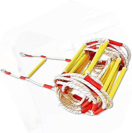 HXPP Escalera De Incendios, Escalera De Cuerda Seguridad contra Incendios Resistente con - Rápido Implementar Y Fácil Usar Compacto Almacenar Reutilizable (Color : 11m (36ft), Size : Polypropylene): Amazon.es: Hogar