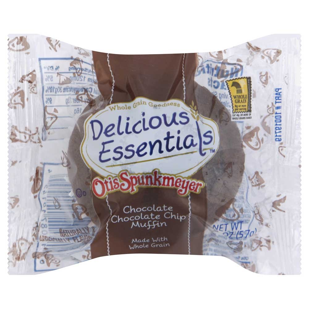 Otis Spunkmeyer Individually Wrapped Double Chocolate Chip Muffin, 2 Ounce -- 72 per case.