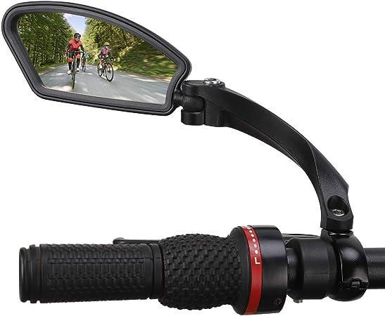 SOONHUA Bicicleta Bicicleta Ciclismo Espejo Retrovisor 360 /° Girar Manillar Espejo Retrovisor Seguro
