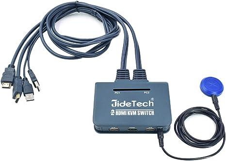 Amazon.com: Conmutador KVM VGA/HDMI de 2/4 puertos ...