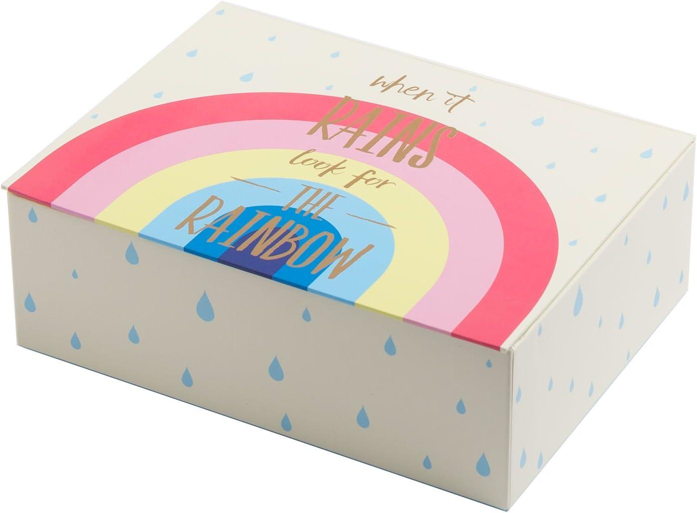 Creibo CBOX001 - Caja Cartón Decorada Arcoiris: Amazon.es: Hogar