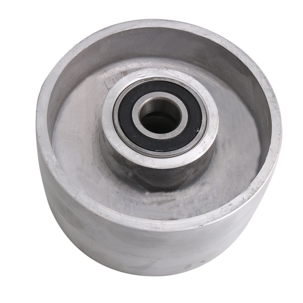 Yibuy Belt Sander Aluminum Belt Grinder Tracking Wheel with Bearing 125mm Dia