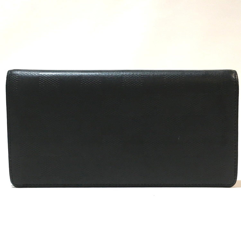 (ルイヴィトン) LOUIS VUITTON N63010 ポルトフォイユブラザ ダミエアンフィニ 二つ折り長財布 長財布(小銭入れあり) ダミエキャンバス メンズ 中古 B07FS3S7PT