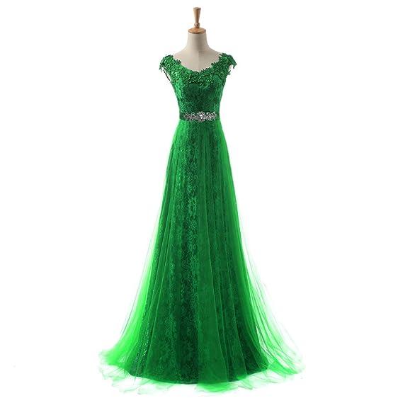 Amazon.com: New Wedding Formal Bridesmaid V-Neck Beaded Lace Party ...
