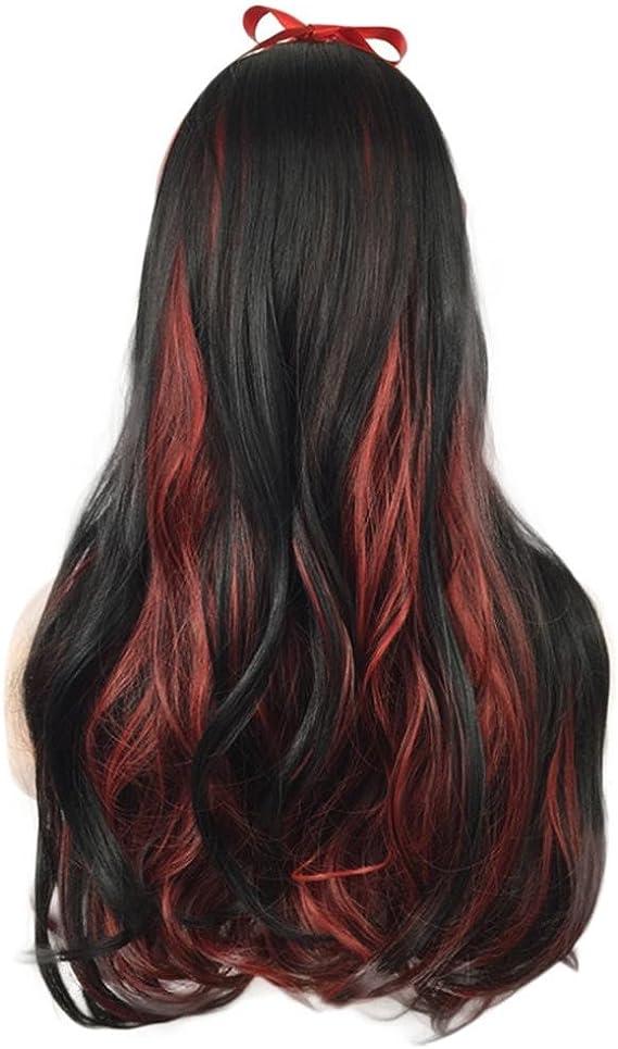 Señoras de la manera de Halloween Cosplay peluca gradiente ...