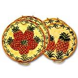 Ceramic Pineapple Kitchen Stove Top Burner Cover Set of 4 Burner Covers