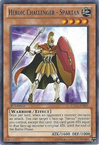 Swordshield REDU-EN007 Common Yu-Gi-Oh Card New U Heroic Challenger