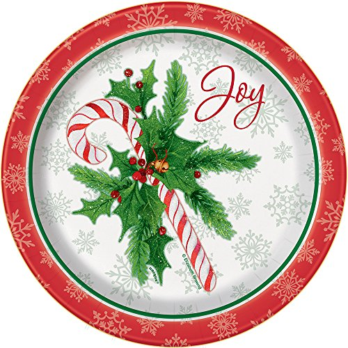 - Candy Cane Christmas Dessert Plates, 8ct