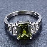 Sumanee Vintage Women 925 Silver Peridot Gemstone Wedding Proposal Ring Jewelry Size 6-9 (9)