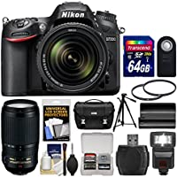 Nikon D7200 Wi-Fi Digital SLR Camera & 18-140mm VR DX & 70-300mm VR Lens with 64GB Card + Case + Flash + Battery + Tripod + Filters + Kit Basic Facts Review Image