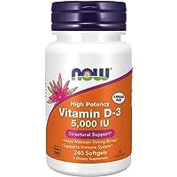 NOW Vitamin D-3 5,000 IU,240 Softgels