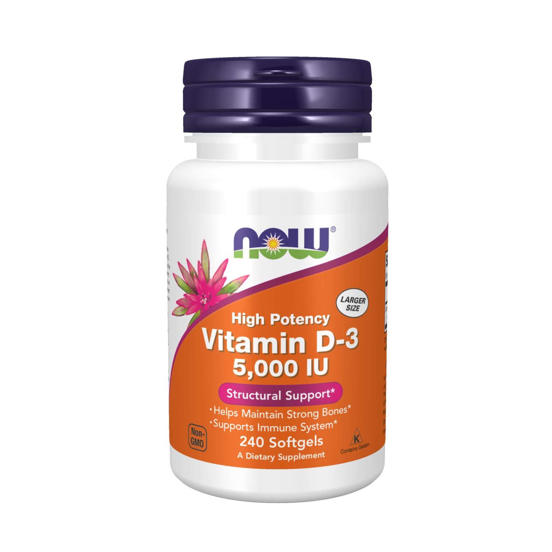 Now Foods Vitamin D3 5000 Iu - 240 Softgels