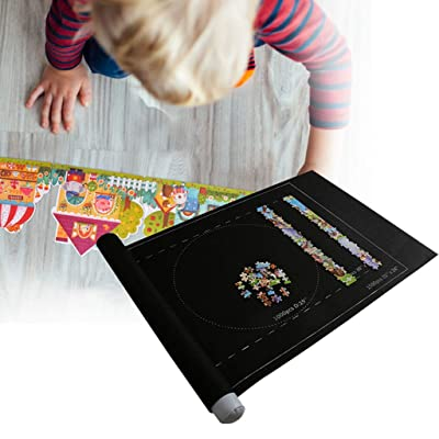 Puzzle Roll Jigsaw Storage Felt Mat-Jigroll Up to 1500 Pieces Puzzle Saver Large Puzzles Board for Adults Kids,Storage and Transport-Preserve Your Finished Puzzle: Toys & Games