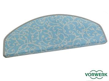 Vorwerk bijou royal türkis teppich stufenmatten rund standard 25x65