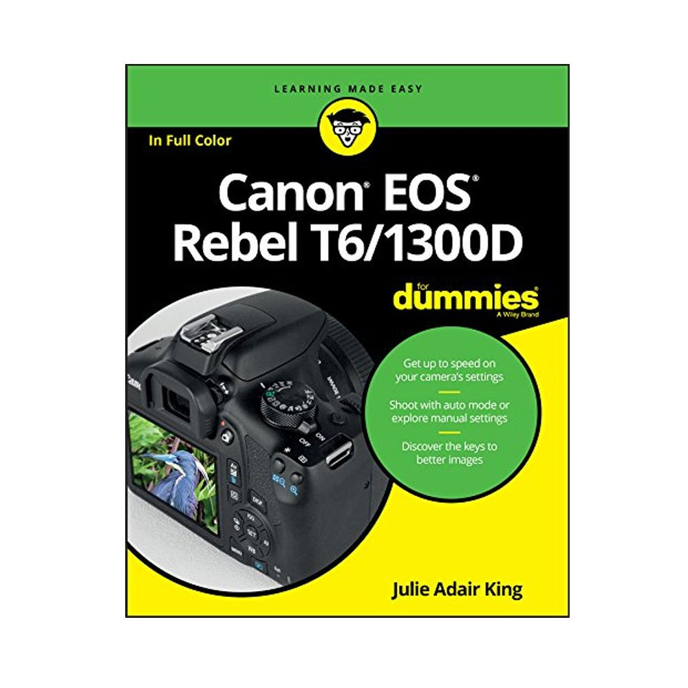 Canon EOS Rebel DSLR T6 Camera Body + Canon 18-55mm EF-S IS II Autofocus Lens + Wide Angle & 2x 58mm Lens + SanDisk 64GB Card + T6/1300D for Dummies + Photo4Less Gadget Bag + Quality Tripod - Full Kit by Canon
