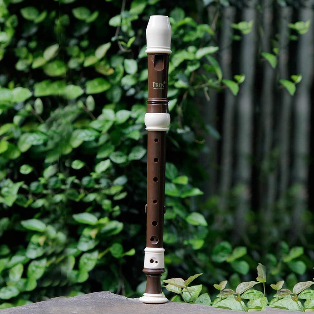 Muslady Altblockfl/öte Abs 8 Loch Barockstil Blockfl/öten Instrument Abnehmbar mit Fingerauflage und Tragetasche Klassenzimmer Wind Musikinstrumente Kaffee IRIN