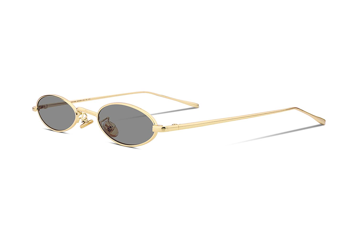 4aed80f3d31 Amazon.com  FEISEDY Vintage Slender Oval Sunglasses Small Metal Frame Candy  Colors B2277  Clothing
