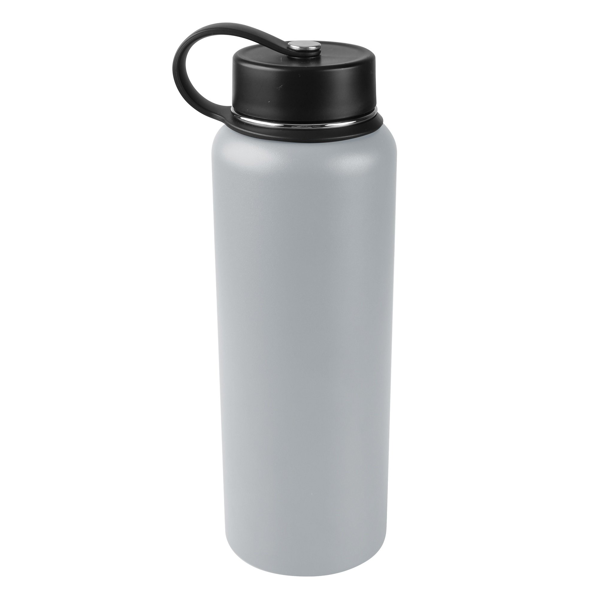 Tahoe Trails Double Wall Vacuum Insulated Stainless Steel Water Bottle (gray, 40 oz)