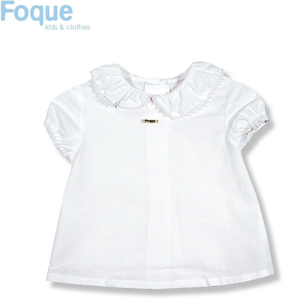 FOQUE Blusita Blanca de bebé 9 Meses Blanco: Amazon.es: Ropa y accesorios