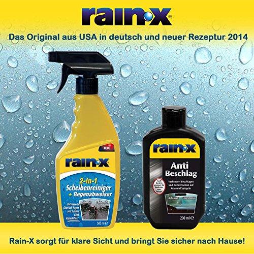 Rain-x parabrisas Limpiador 2 en 1 500 ml & Rainx antiniebla solución 200 ml: Amazon.es: Coche y moto