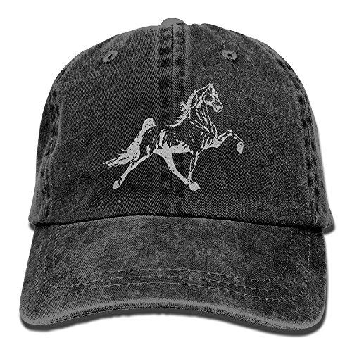 CH&CAP Mens Womens Baseball Cap Tennessee Walking Horse Washed Jean Trucker Hat for Men