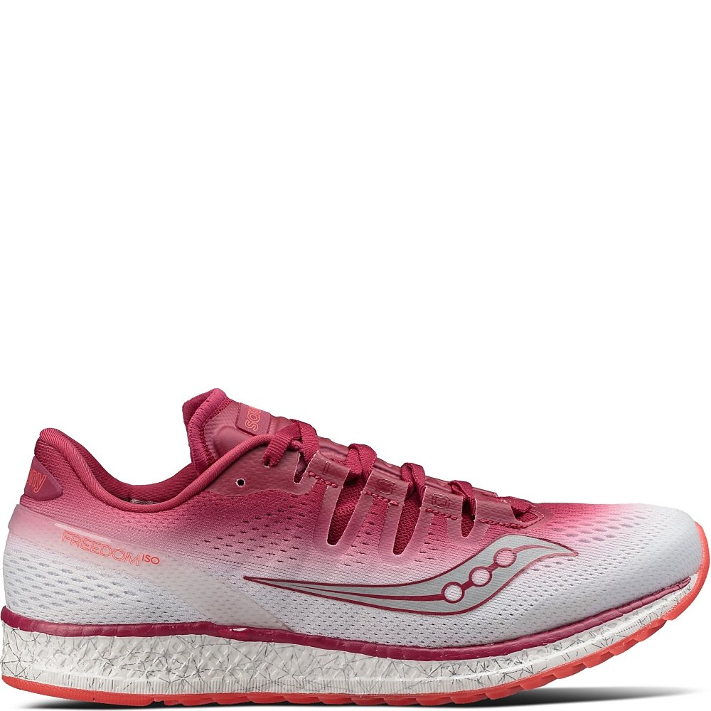 Saucony Women's Freedom ISO Running Shoe B01NCOQEN7 10.5 B(M) US|Berry | White