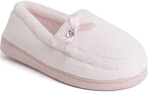 Ladies Womens Wide FIT Bow Moccasin