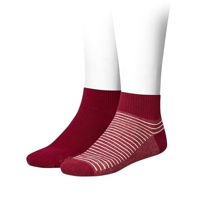 Levis - Calcetines cortos - Rayas - para mujer Rojo Red ...