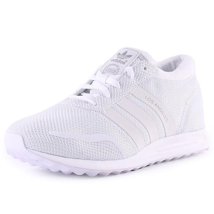 adidas Los Angeles Schuhe Herren weiß mit weißen Streifen u. weißer Sohle
