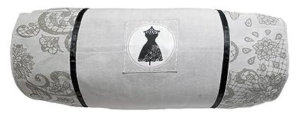 Soleil docre Cojín cilíndrico de algodón 20x50 cm Black ...