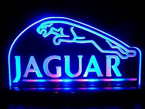 Jaguar Car Logo LED Lamp Night Light Man Cave Room Game Room Signs