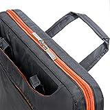 VanGoddy Slim Orange Trim Laptop Messenger Bag