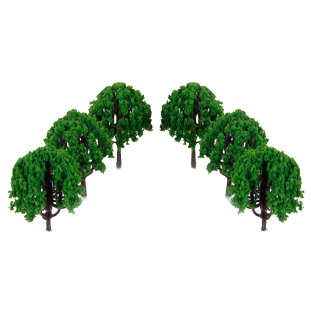 20pcs 3 inch Scenery Landscape Train Model Trees Scale 1/100--Made of Plastic Cement