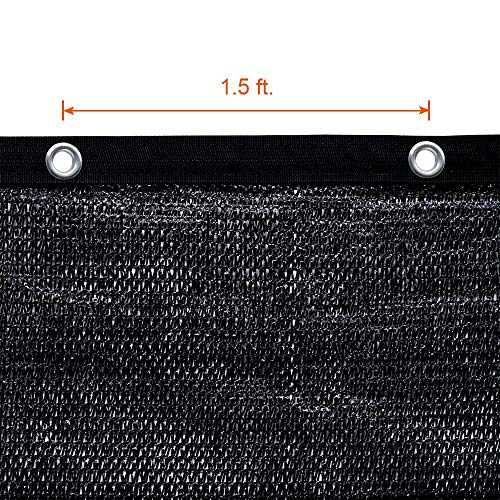 Agfabric 60% Greenhouse Shade Cloth Cover with Grommets 8' X 12', Black by Agfabric (Image #2)