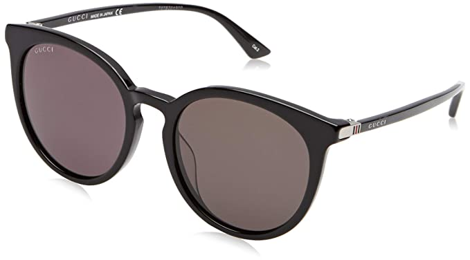 505d13e787002 Image Unavailable. Image not available for. Colour  Gucci Grey Round Ladies  Sunglasses GG0064SK 001 55