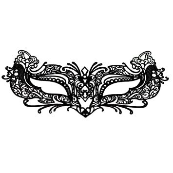EMILYSTORES Self Adhesive Flower For Woman Girl Garden Tattoo Black Lace Paper Lashes Upper And