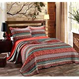 sophia art indischen handgefertigt paisley print king size kantha quilt kantha decke bett. Black Bedroom Furniture Sets. Home Design Ideas
