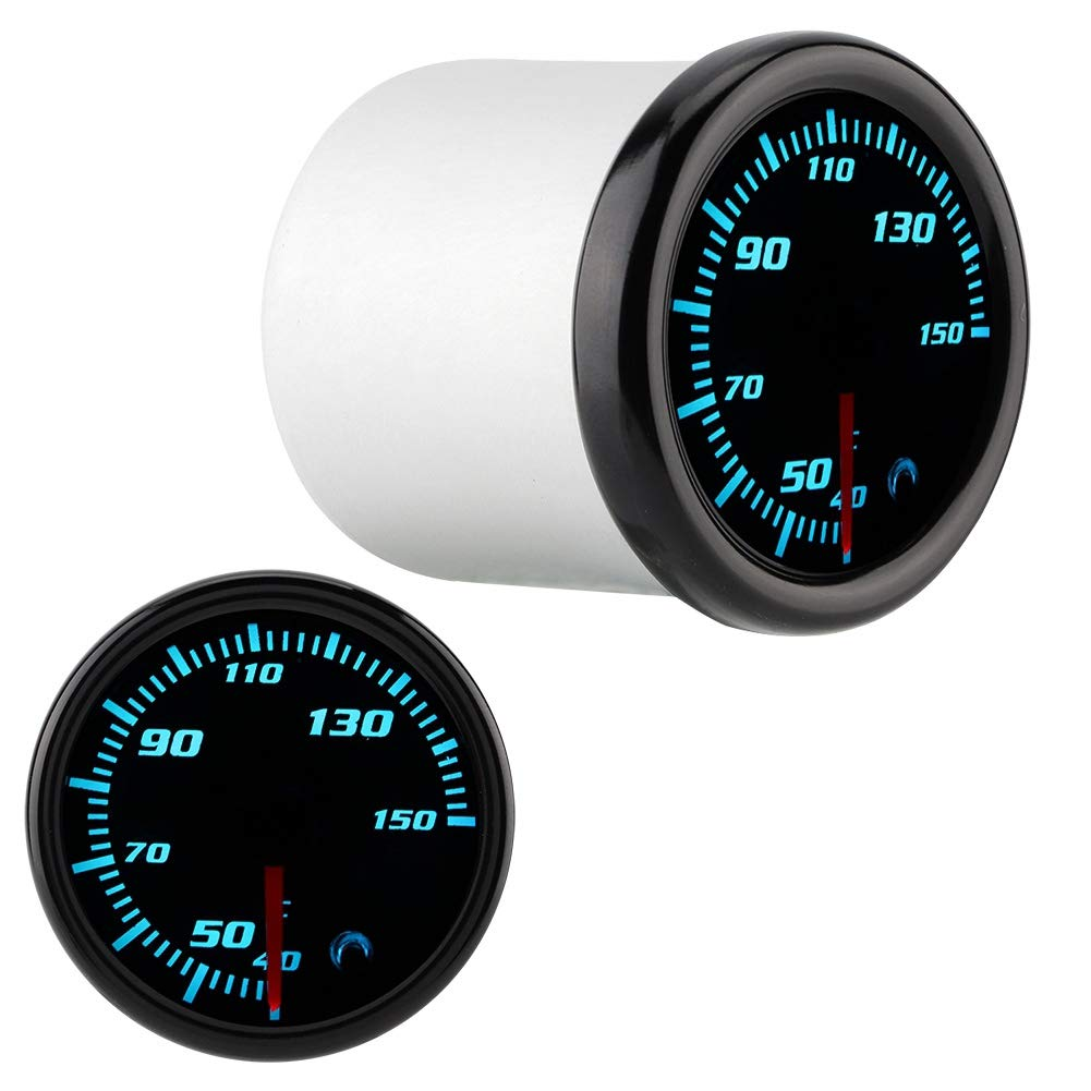 KIMISS 2inch 10-15V Car Oil Temp Gauge Digital Oil Temperature Meter Gauge with Sensor 7 Color by KIMISS (Image #7)