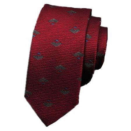 Corbata Moda Tie Men Fashion Casual Pequeño Tie Novio Boda Vino ...