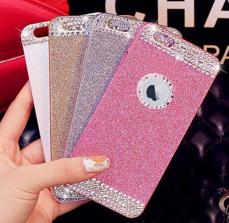 Inspirationc Hard Shiny Sparkling with Crystal Rhinestone Cover Case for Apple iPhone 5/5S (Pink)