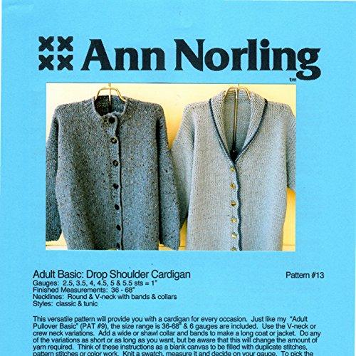 The Big Cardigan 4 Gauges Ann Norling Knitting Pattern 13 Buy
