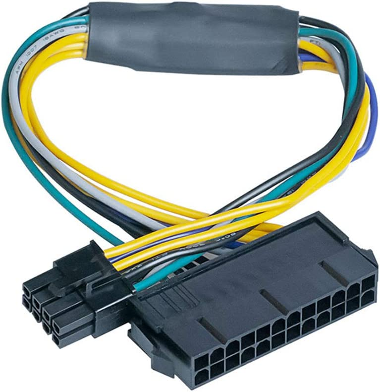 Iestar Main Power 24pin to 8pin ATX Power Supply Adapter Cable for DELL Optiplex 3020 7020 9020 Precision T1700