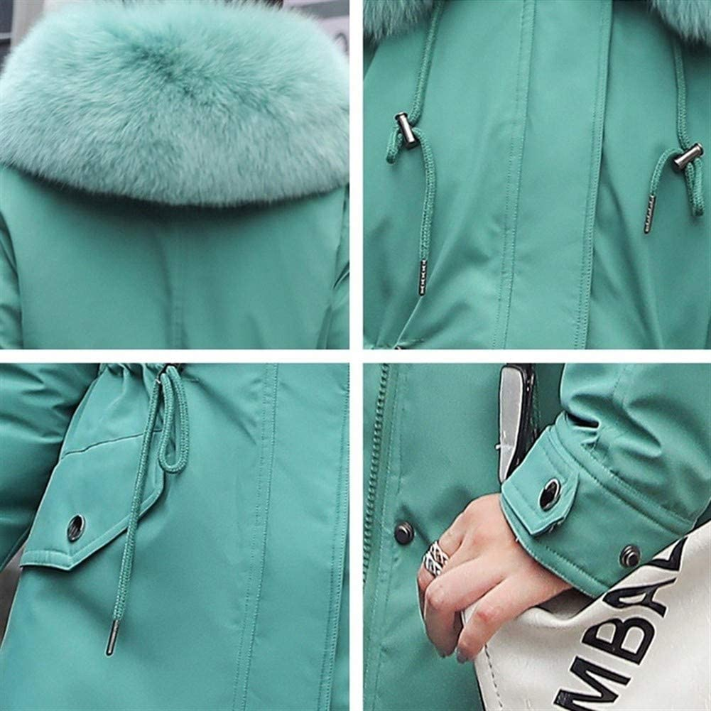 Down Jacket Femmes Manteau long hiver chaud Thicken fausse fourrure Manteaux Parka Femme solide Big Pocket Jacket Outwear Black