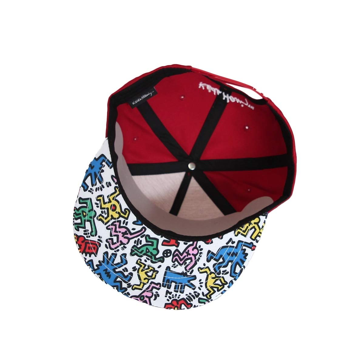 WIM Cappellini da Baseball Cappello Snapback cap Pop Art Keith Haring Barking Dog Rubber Patch Hat CR21214