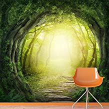 Magic Forest Wall Mural Fantasy Nature Photo Wallpaper Kids Bedroom Home Decor available in 8 Sizes Large Digital
